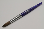 Kyoko Finest 100% Pure Kolinsky Brush, Size # 16, Made in Japan, Blue Marble Handle