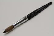 Ma Cherie Finest 100% Pure Kolinsky Brush, Size # 16, France, Black Marble Handle