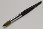 Ma Cherie Finest 100% Pure Kolinsky Brush, Size # 16, France, Black Marble Handle
