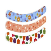 "3pc Jumbo Curved Nail File Board Set - 7"" x 28mm - 2-Sided - Fun Patterns!"
