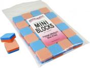 Orange/Blue Sponge Board (Medium/Fine) 2.5cm Mini Block 24 pack
