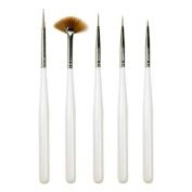 Nail Art Sable Brush Set - 5 Piece