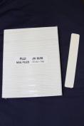 Professional Nail Files Grit 80/80, Jumbo Size White Rectangle