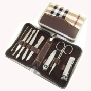 Jin Li High quality Carbon steel nail clippers Set 8pcs manicure set