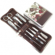Jin Li High qualit carbon steel Retro Golden Flower nail clippers suit carbon steel eight sets of premium nail scissors