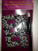 Sparkly Animal print Pedicare kit
