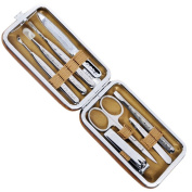Rimei 70082-1 8pcs Personal Nail Care Clippers Manicure Pedicure Set Travel Grooming Kit Nail Care Tool with Case