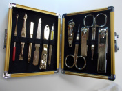 World No. 1, Three Seven 777 Travel Manicure Pedicure Grooming Kit Set - Total 11 Pcs