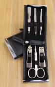 World No. 1, Three Seven 777 Travel Manicure Pedicure Grooming Kit Set - Nail Clipper (Total 6 Pcs, Model