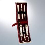 World No. 1, Three Seven 777 Travel Manicure Pedicure Grooming Kit Set - Nail Clipper (Total 6 Pcs, Model