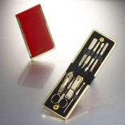 World No. 1, Three Seven 777 Travel Manicure Pedicure Grooming Kit Set - Nail Clipper (Total 8 Pcs, Model