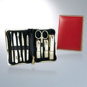 World No. 1, Three Seven 777 Travel Manicure Pedicure Grooming Kit Set - Nail Clipper (Total 9 Pcs, Model