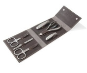 Havanna XL TopInox Stainless Steel Manicure Men's Set in Leather Case. Made by Niegeloh, Germany