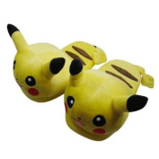 New Cute Pokemon Pikachu Soft Plush Slipper Stuffed Yellow Cartoon Toy Gift