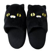Cute Black Cat Slipper - Round 24cm
