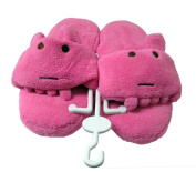 Cute Hot Pink Hippo Slipper with Toe Seperator