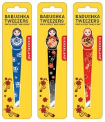 Babushka Tweezers Eyebrow Hair Plucker Assorted Colours Trim Shape