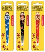 Babushka Tweezers Eyebrow Hair Plucker Assorted Colours Trim Shape