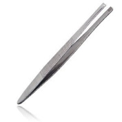 Kit tweezers, 7.6cm slanted, stainless steel, 1 ea.