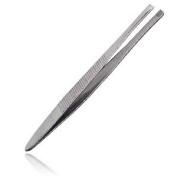 Kit tweezers, 7.6cm slanted, stainless steel, 1 ea.