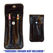 Black Twin Tweezer Pouch * Empty * Perfect For Purse Or Travel