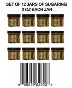 12 Jars of Sugaring 60ml Each Cleopatra Egyptian Sugar Wax Hair Removal 100% Natural Paste - 100% Organic and Natural with Egyptian Calendula and Chamomile - Epilation Waxing - Sugaring Hair Remover - Sugaring Gel - Vegan