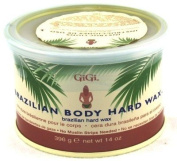 GIGI Tin Brazilian Body Hard Wax 410ml (3-Pack) with Free Nail File