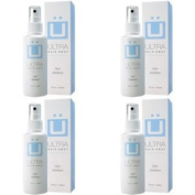 Ultra Hair Away 4 Bottles - Hair Inhibitor Permanent Body Hair Removal Remover Spray Stop Hair Growth