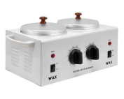 DOUBLE Wax Warmer Electric Heater Dual Parrafin Hot Facial Skin Equipment SPA