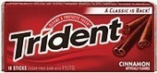 Trident Sugar Free Gum Cinnamon Value Pack 12x18 sticks