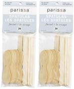 Parissa Facial Wooden Spatulas-20 ct