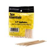 Graham Spa Essentials 100 Wooden Lip Applicators Hair Waxing Makeup 8.9cm Sticks