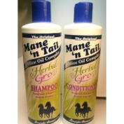 Mane 'n Tail Herbal Gro Shampoo & Conditioner Olive Oil Complex 350ml