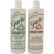 "Nutrine Garlic Shampoo + Conditioner "" Combo Set "" Unscented 470ml"