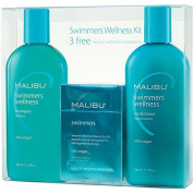 Malibu Swimmers Wellness treatment Kit, 270ml Shampoo, 270ml Conditioner and 5ml Wellness Treatment