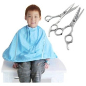 kilofly 2 Hair Cutting Shears and Hairstyling Cape Set