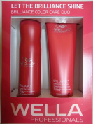 Wella Brilliance DUO Colour Care for Fine/Normal Hair Shampoo 300ml and Conditioner 240ml