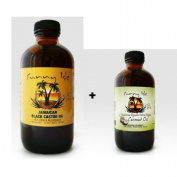 Jamaican Black Castor Oil 240ml & Extra Virgin Organic Coconut Oil 120ml