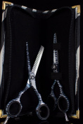 Pro Hairdressing Barber Salon Scissors, Thinning Scissors set 14cm , Original Zebra Pattren