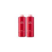 WELLA Brilliance Shampoo & Conditioner Fine to Normal Coloured Hair, Litre Duo 1000ml