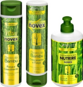 COMBO PACK - 1x Embelleze Novex Bamboo Sprout Shampoo - 10.14 Fl. Oz - 1x Embelleze Novex Bamboo Sprout Conditioner - 10.14 Fl. Oz - 1x Embelleze Novex Bamboo Sprout Leave-In Conditioner - 10.6 Oz | 1x Embelleze Novex Broto de Bambu Shampoo - 300ml - 1x E