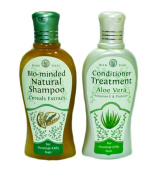 Natural Herbal Shampoo WAN-THAI Bio-minded Cereals Extract Shampoo and Aloe Vera Conditioner For Normal-Oily Hair 200ml