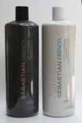 Sebastian Drench Moisturising Shampoo and Conditioner Set 1000mls/1L