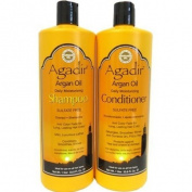 Agadir SET (w/Triple Benefit Lip Stick) Argan Oil Daily Shampoo + Conditioner 1000ml