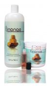 Linange neutralising conditioner 950ml+Linange Shea Butter Relaxer 440ml+Free Roll-on Body Oil