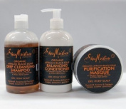 Shea Moisture ORGANIC African Black Soap Set II-Shampoo 350ml+Conditioner 350ml+Masque 350ml