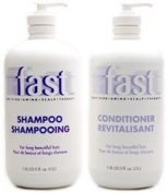 Nisim Fast Shampoo 1liter & Conditioner 1liter for Long Beautiful Hair