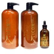 ICON India Shampoo 980ml + Conditioner 980ml + Oil 110ml
