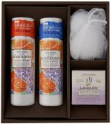Global Product Planning Daily Delight | Shampoo, Conditioner Set | Orange Lavender Shampoo 300ml, Conditioner 300ml w/ soap, sponge