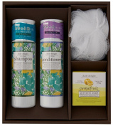 Global Product Planning Daily Delight | Shampoo, Conditioner Set | Peppermint Cederwood Shampoo 300ml, Conditioner 300ml w/ soap, sponge